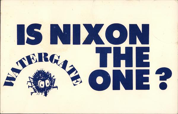 Is Nixon the One? Watergate Political