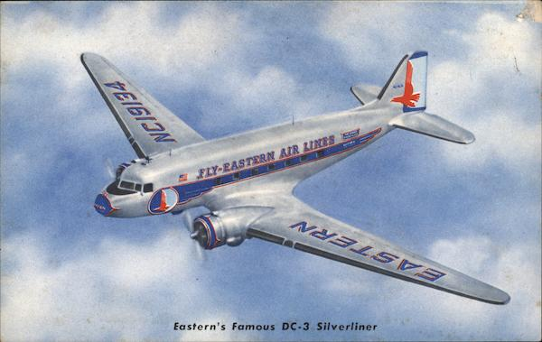 Eastern's Famous DC-3 Silverliner Aircraft