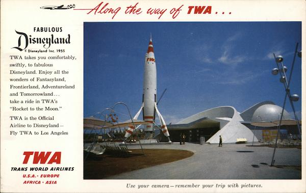 TWA / Disney Advertisement Airline Advertising