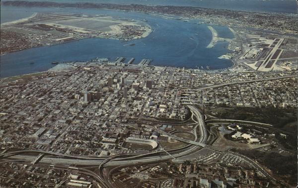 Aerial view of City San Diego California