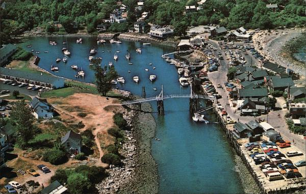 Airview of Perkins Cove Ogunquit Maine