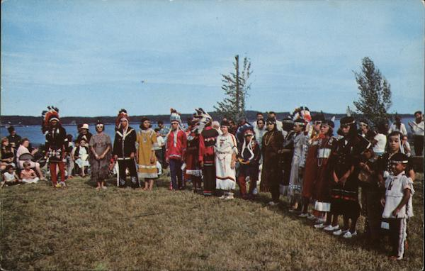 A Group of Passamaquoddy Indian Dancers Perry Maine