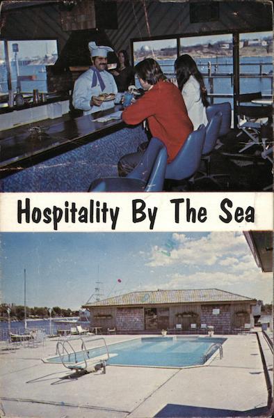 Cape Ann Marina Motor Inn Gloucester Ma Postcard
