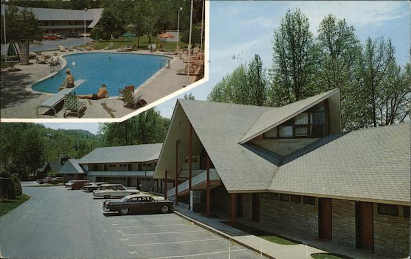Postcard Tennessee Gatlinburg Twin Islands Motel and