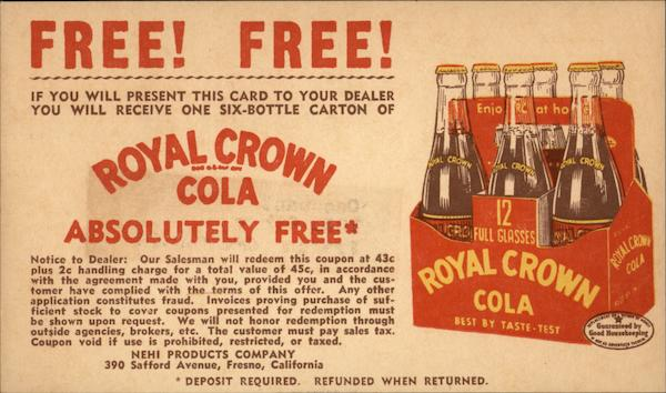 Royal Crown Cola Absolutely Free Advertising