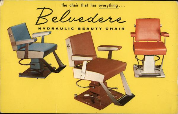 The Chair That Has Everything Advertising Barbers