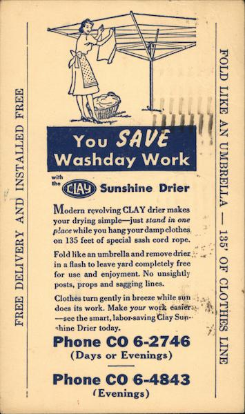 Clay Sunshine Drier Advertising