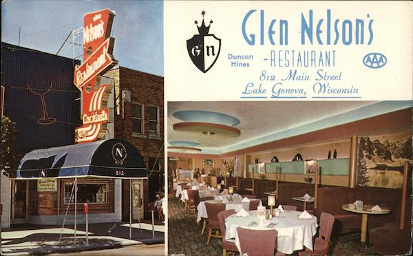 Glen Nelson's Restaurant Lake Geneva Wisconsin
