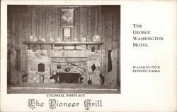 George Washington Hotel - The Pioneer Grill, Colonial Fireplace Postcard