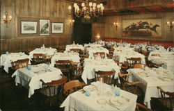 Dining Room of a White Turkey Restaurant Postcard