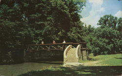 Rustic Bridge over Pine Creek, White Pines Forest State Park