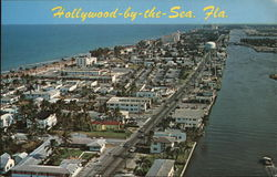 Airview of Town, Looking South, Hollywood-by-the-Sea Postcard