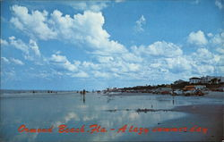 A Lazy Summer Day at the Beach Postcard