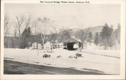 Covered Bridge, Winter Scene