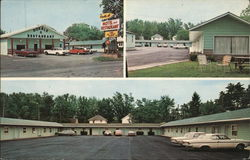 Double A Motel and Restaurant Postcard