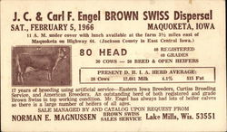 J.C. & Carl F. Engel Brown Swiss Dispersal Postcard