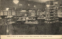 Section of the C.R. Strachan Jeweller's China Department