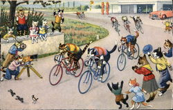 Cats on Bicycles