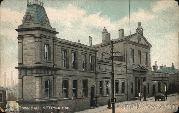View of Town Hall Stalybridge England Greater Manchester