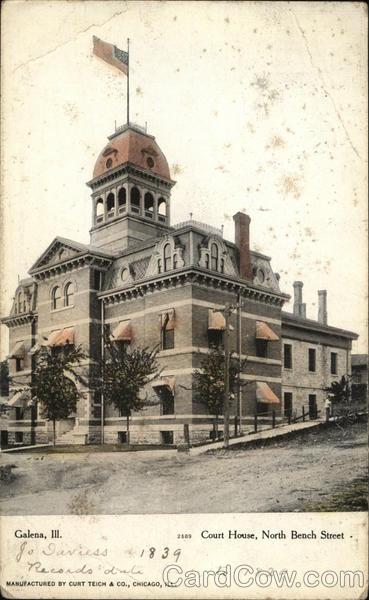 Court House, North Bench Street Galena Illinois