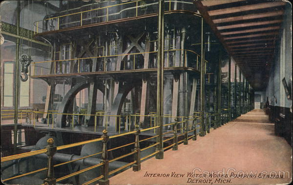 Interior View Water Works Pumping Station Detroit Michigan