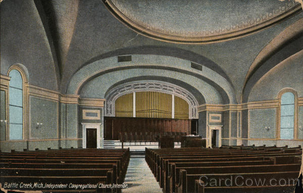 Independent Congregational Church Interior Battle Creek Michigan