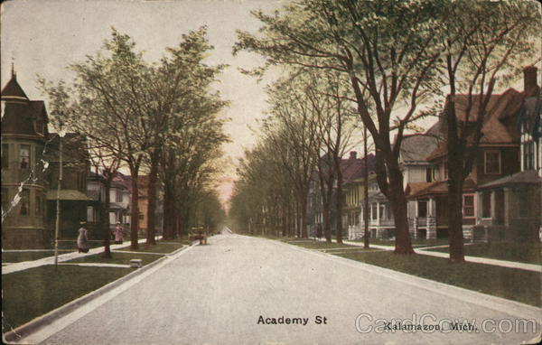 Looking Along Academy Street Kalamazoo Michigan