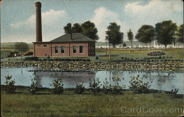 New Pumping Station, Water Works Augusta Maine