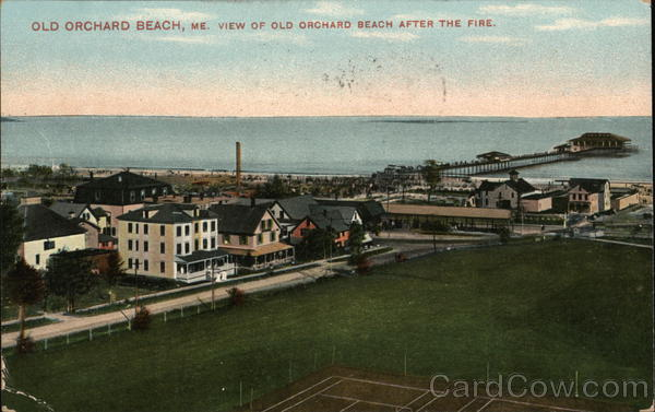 View of Old Orchard Beach After the Fire Maine