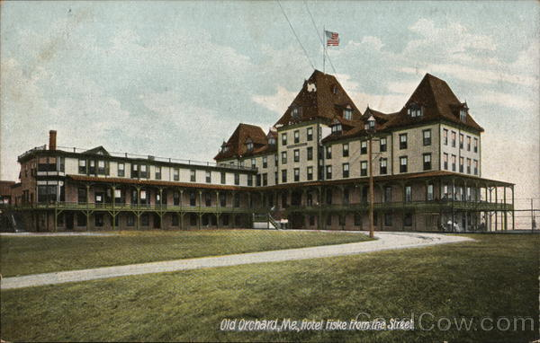 Hotel Fiske from the Street Old Orchard Beach Maine