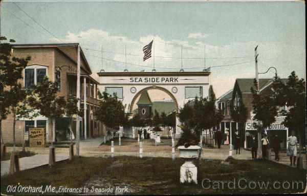 Entrance to Seaside Park Old Orchard Beach Maine