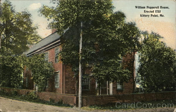 William Pepperell House, Erected 1733