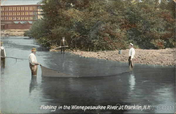 Fishing in the Winnepesaukee River Franklin New Hampshire