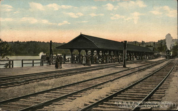 B&M RR Station, The Weirs Lake Winnipesaukee New Hampshire