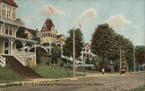 N.H. Veteran's Headquarters and Hotel Weirs Weirs Beach New Hampshire