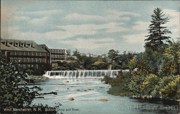 Bobbin Shop and River Manchester New Hampshire