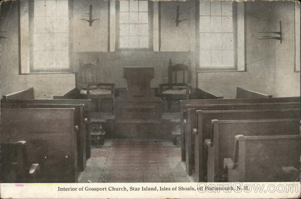 Interior of Gossport Church, Star Island, Isles of Shoals Portsmouth New Hampshire