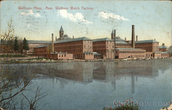 Rear View of Watch Factory Waltham Massachusetts