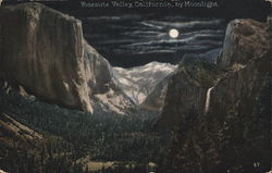 View of Valley by Moonlight