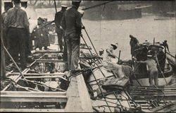Life Savers Assisting In the Work of Rescue Postcard