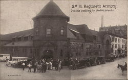 Crowds Waiting to Identify Friends, 2nd Ill. Regiment Armory Postcard