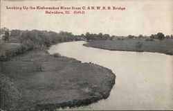 Looking Up the Kishwaukee River from C. & N.W.R.R. Bridge