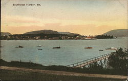 View of Southwest Harbor Postcard