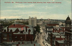 Bird's-Eye View Looking East, Showing New State Loan Building