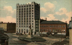 Monument Square Showing Soldiers' Memorial and Fidelity Building