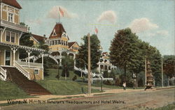 N.H. Veteran's Headquarters and Hotel Weirs Postcard