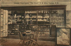 "Jewelry Department, ""The Store"", E.M. Allen Postcard"