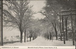 Meredith Road in Winter