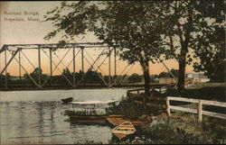 View of Railroad Bridge Postcard