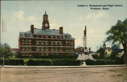 Soldiers Monument and High School